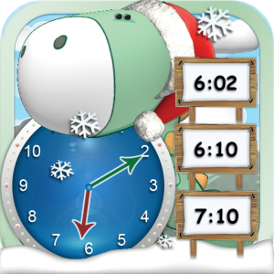 Winter Holiday Scene Helps Learn to Tell Time