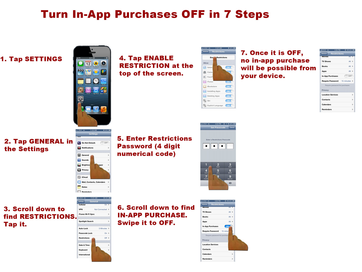 7 Steps to turn OFF In-App Purchase on your iPhone