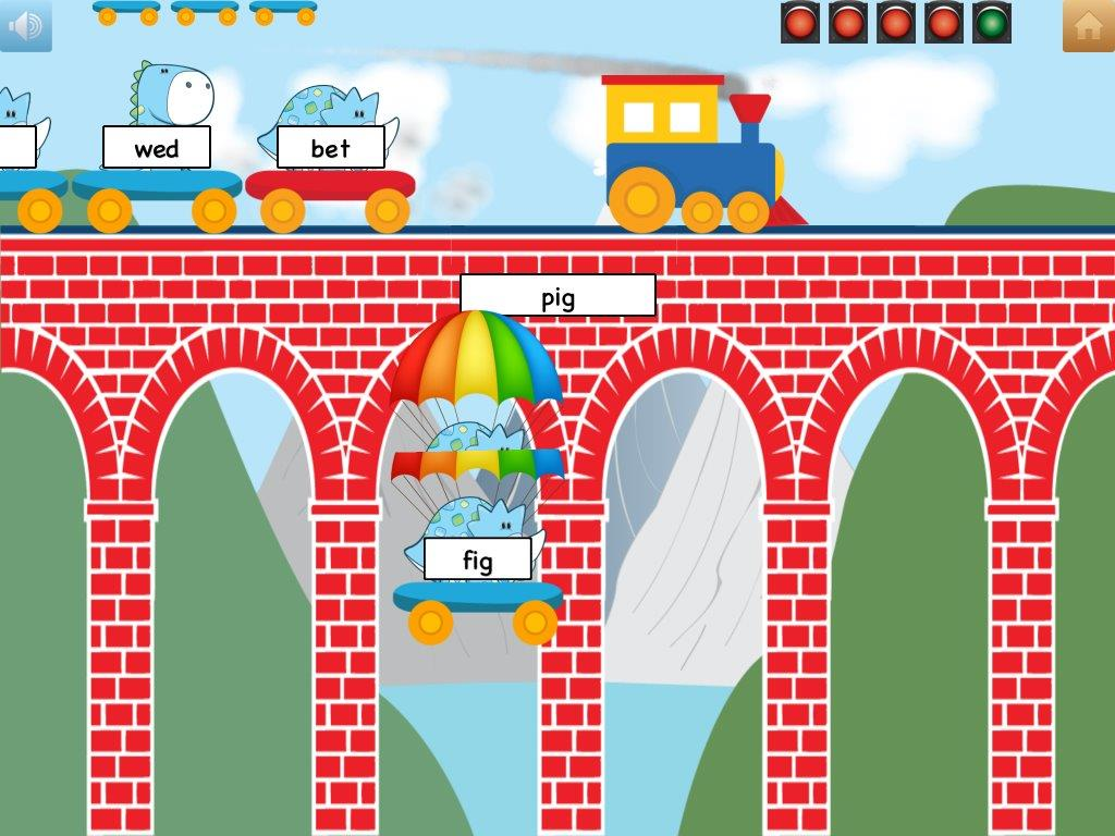 School Tool Rhyming Words - Bridge Crossing