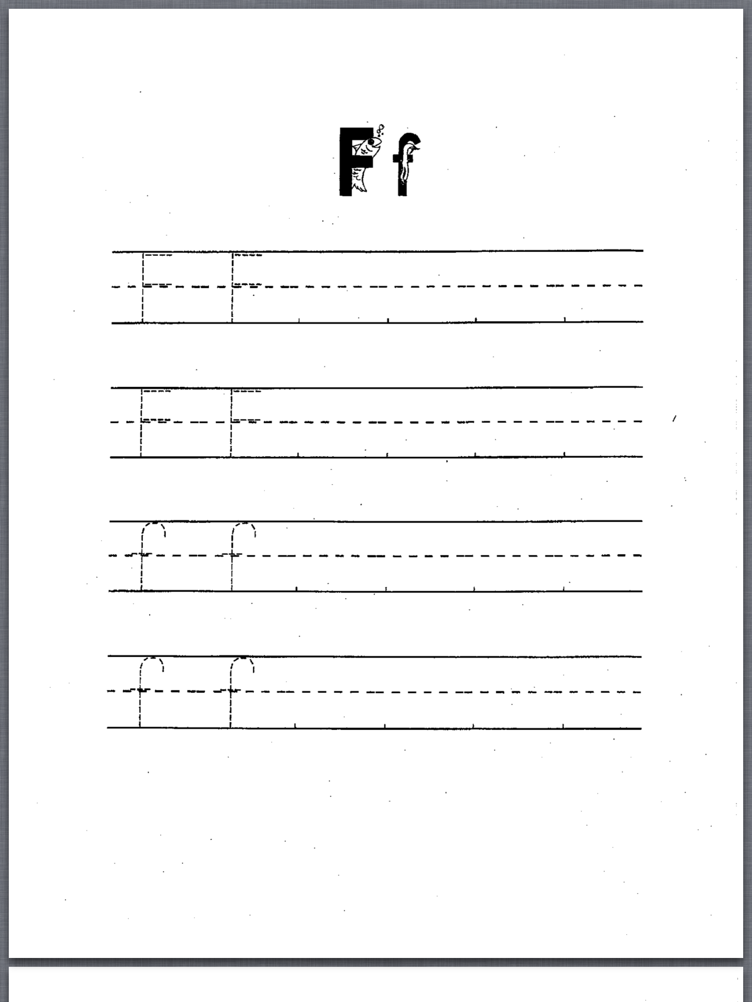 letter Ff Printable Sheet