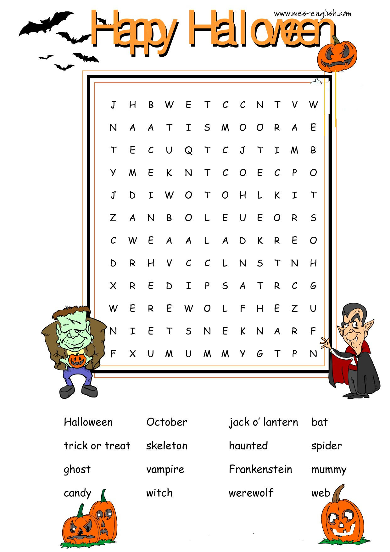 Worksheets Halloween Printable Worksheets halloween jokes and worksheets reks educational ios applications printable word search puzzle