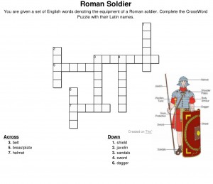 CrossWord Puzzle Roman Soldier