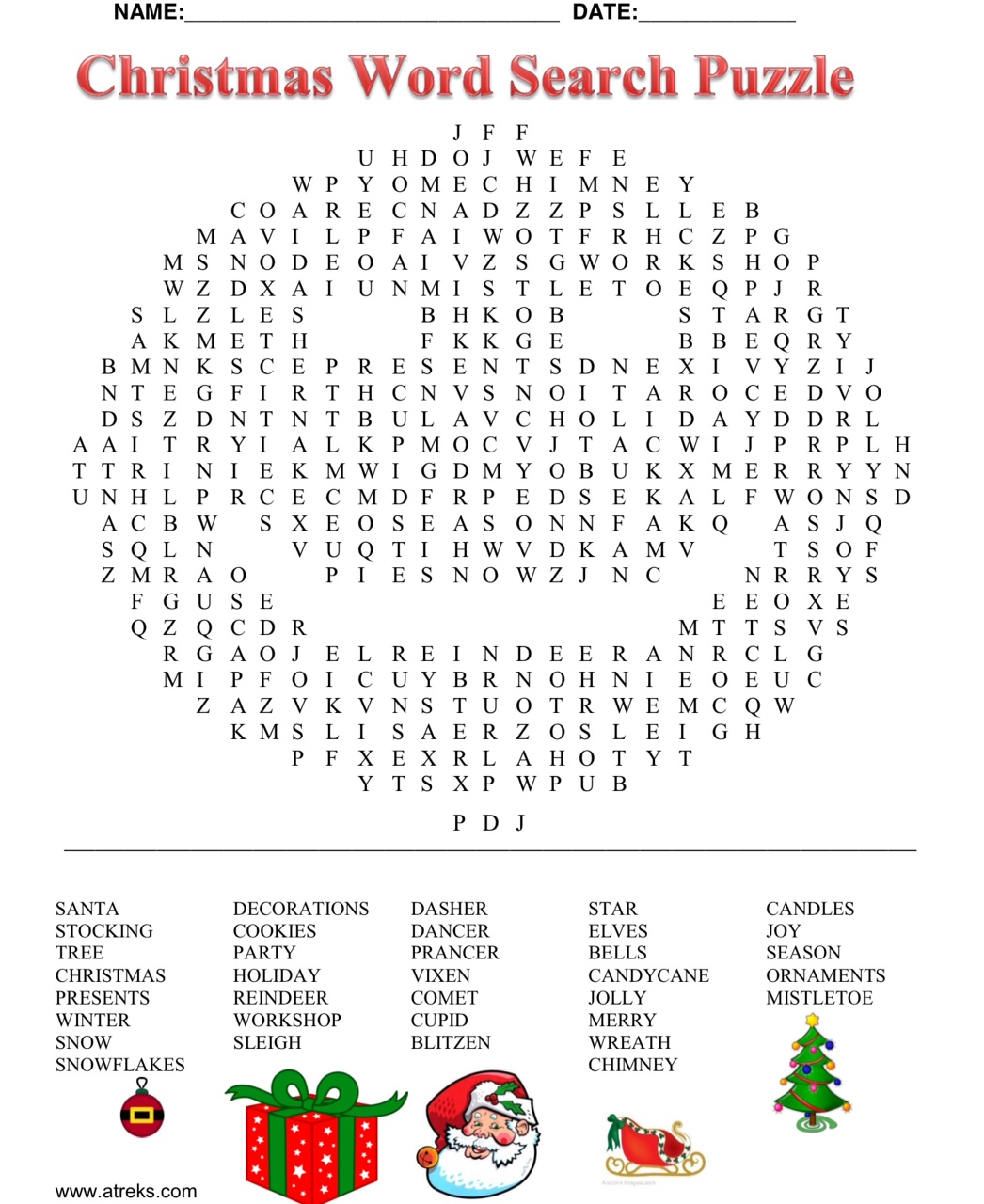 Christmas WordSearch Puzzle