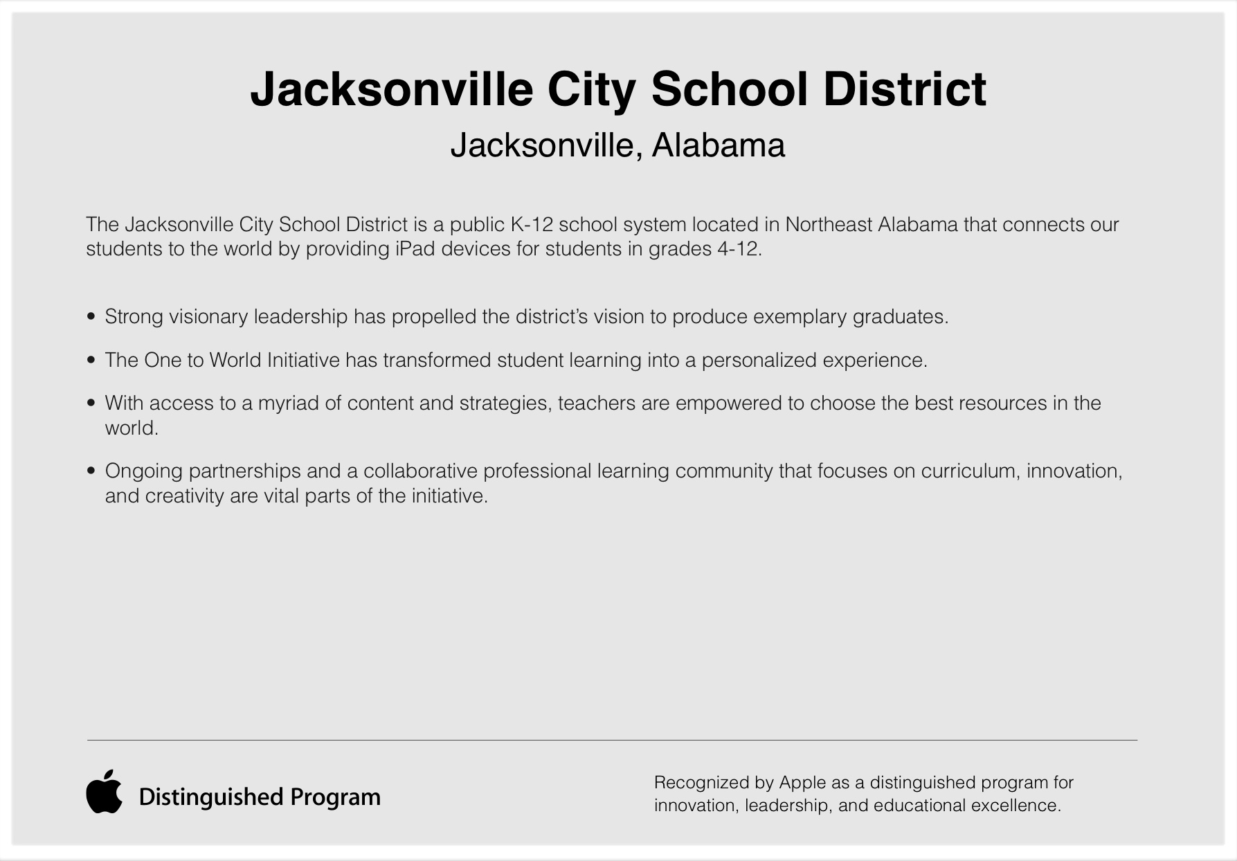 Jacksonville City School District